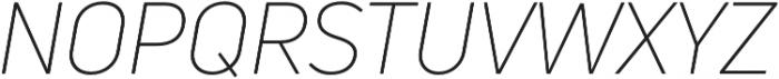 Uni Neue Light Italic otf (300) Font UPPERCASE
