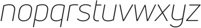Uni Neue Light Italic otf (300) Font LOWERCASE
