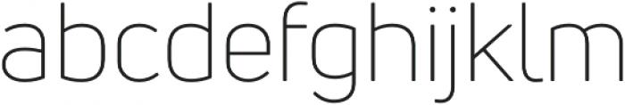 Uni Neue Light otf (300) Font LOWERCASE