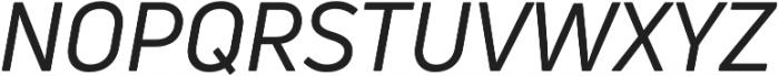 Uni Neue Regular Italic otf (400) Font UPPERCASE