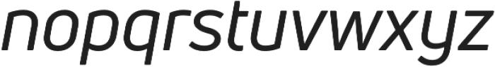 Uni Neue Regular Italic otf (400) Font LOWERCASE