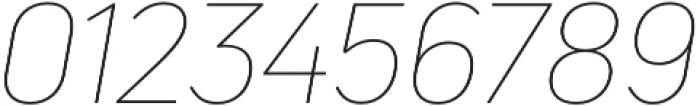 Uni Neue Thin Italic otf (100) Font OTHER CHARS