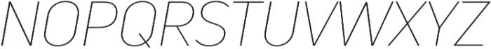 Uni Neue Thin Italic otf (100) Font UPPERCASE