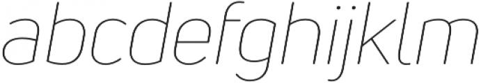 Uni Neue Thin Italic otf (100) Font LOWERCASE