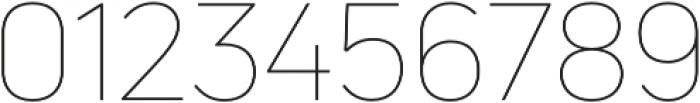 Uni Neue Thin otf (100) Font OTHER CHARS