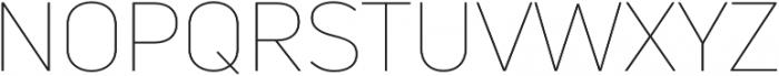 Uni Neue Thin otf (100) Font UPPERCASE