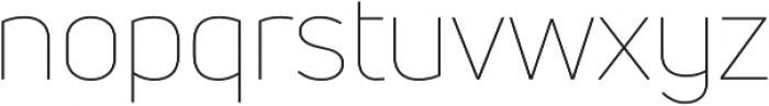 Uni Neue Thin otf (100) Font LOWERCASE