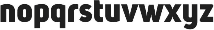 Uni Sans Heavy otf (800) Font LOWERCASE