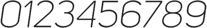 Uni Sans Light Italic ttf (300) Font OTHER CHARS
