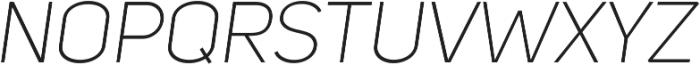 Uni Sans Light Italic ttf (300) Font UPPERCASE