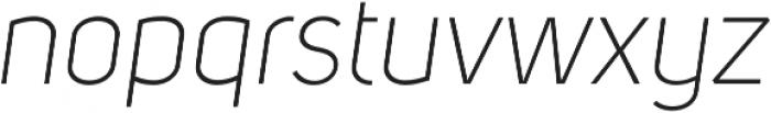 Uni Sans Light Italic ttf (300) Font LOWERCASE
