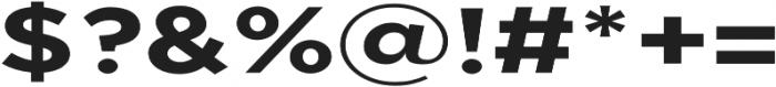 Uniclo otf (700) Font OTHER CHARS