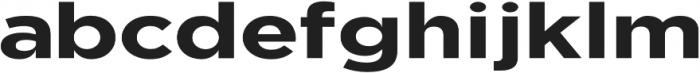 Uniclo otf (700) Font LOWERCASE