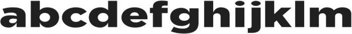 Uniclo otf (900) Font LOWERCASE