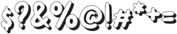 Unicorny Shadow  otf (400) Font OTHER CHARS