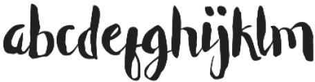 Unique Regular otf (400) Font LOWERCASE