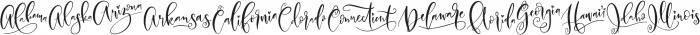 United Scripts otf (400) Font UPPERCASE