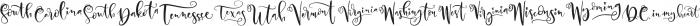 United Scripts otf (400) Font LOWERCASE