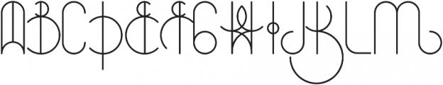Universum otf (400) Font UPPERCASE