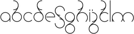 Universum otf (400) Font LOWERCASE