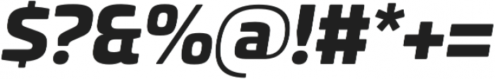 Univia Pro Black Italic otf (900) Font OTHER CHARS