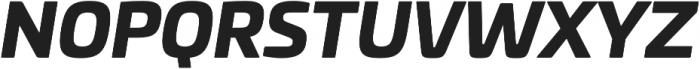Univia Pro Black Italic otf (900) Font UPPERCASE