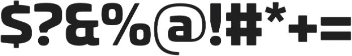 Univia Pro Black otf (900) Font OTHER CHARS