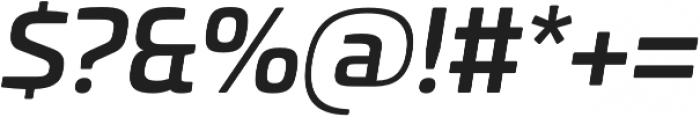 Univia Pro Medium Italic otf (500) Font OTHER CHARS