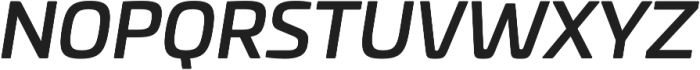 Univia Pro Medium Italic otf (500) Font UPPERCASE