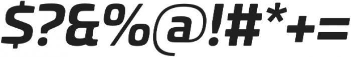 Univia Pro otf (700) Font OTHER CHARS
