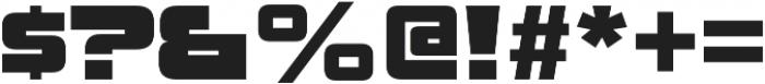 Uniwars Black otf (900) Font OTHER CHARS