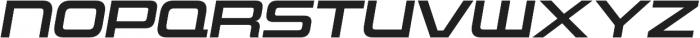 Uniwars SemiBold Italic otf (600) Font UPPERCASE