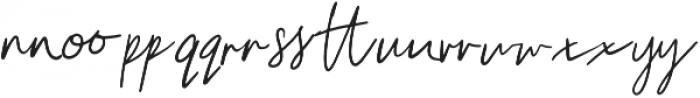 Unleash Handwritten Ligatures otf (400) Font LOWERCASE