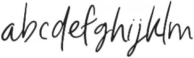 Unleash Handwritten otf (400) Font LOWERCASE