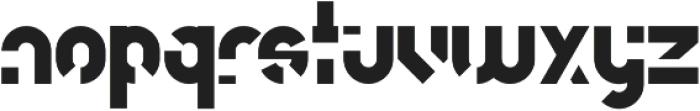 unfinished otf (400) Font LOWERCASE