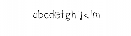 Uncouth Rebellious Handrawn Font Font LOWERCASE