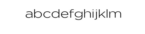 Uniclo-Light.otf Font LOWERCASE