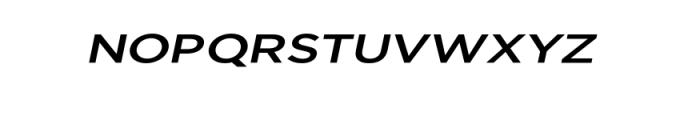 Uniclo-MediumItalic.otf Font UPPERCASE