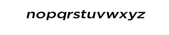 Uniclo-MediumItalic.otf Font LOWERCASE
