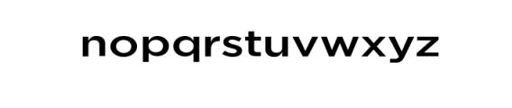 Uniclo-Medium.otf Font LOWERCASE