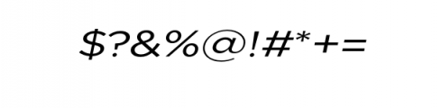 Uniclo-OriginalItalic.otf Font OTHER CHARS
