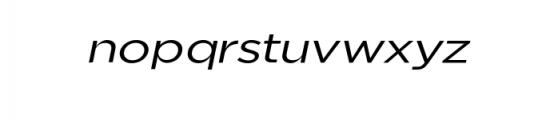 Uniclo-OriginalItalic.otf Font LOWERCASE