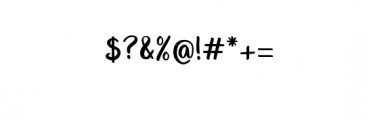 Unquestionify.otf Font OTHER CHARS