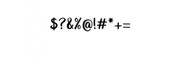 Unquestionify.ttf Font OTHER CHARS