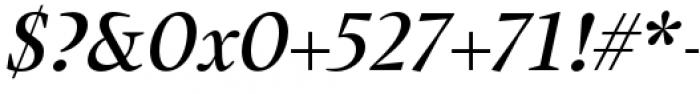 Union Medium Italic Font OTHER CHARS