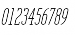 Unknown Caller BTN Oblique Font OTHER CHARS
