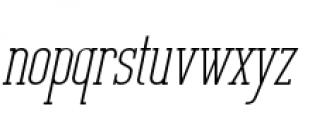 Unknown Caller BTN Oblique Font LOWERCASE