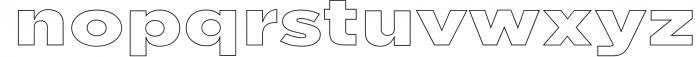Uniclo Wide Sans Family Font 2 Font LOWERCASE