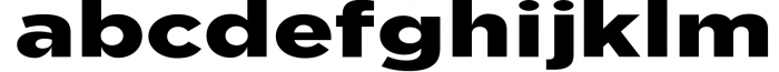 Uniclo Wide Sans Family Font 4 Font LOWERCASE