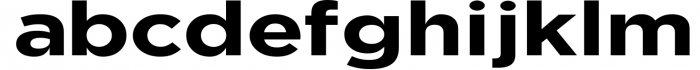 Uniclo Wide Sans Family Font 8 Font LOWERCASE